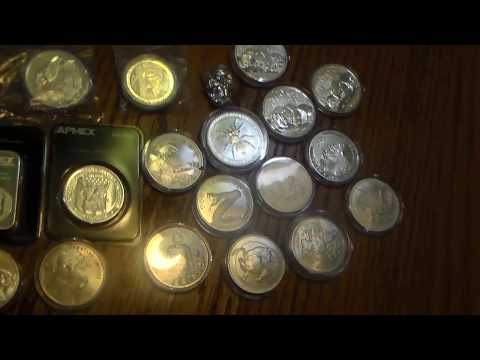 Silver Coin Collection - Canadian Wildlife, Perth Mint, Silver Shield, and Generic Boullion