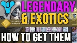 Destiny How to Get Lengendary Exotic Armor Weapons Engrams [Farming vs Grinding]