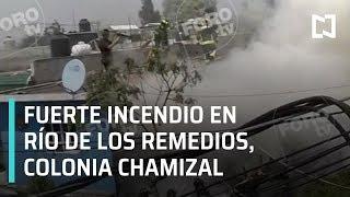 Incendio importante de viviendas en Río de los Remedios - Sábados de Foro