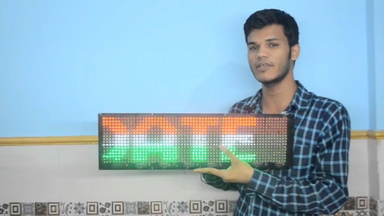 circuit diagram based led display board making moving news display [ 1280 x 720 Pixel ]