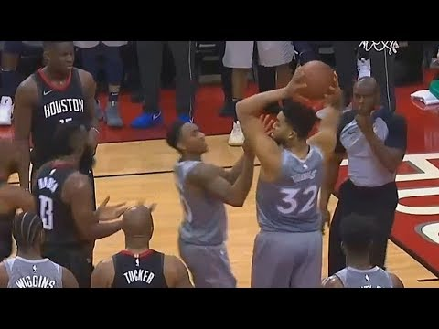 Karl Anthony Towns - Shaqtin' A Fool Moment vs Rockets (VIDEO)