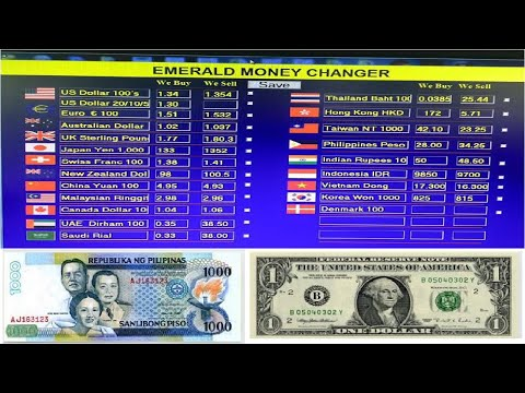 Philippine Peso Exchange Rate Today L Philippine Peso To Dollar