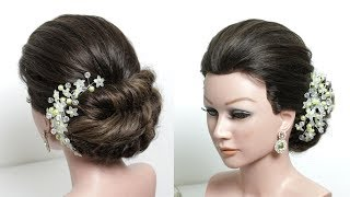 Easy Braided Bun. Updo Hairstyle Tutorial For Long Hair Step by Step