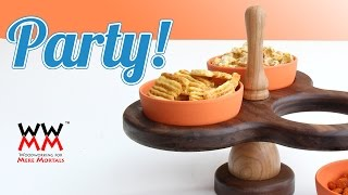 Unique Wooden Serving Tray. Great For Snacks!