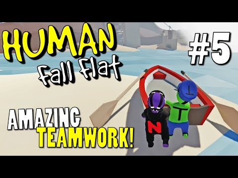 BOATS!!! - Part 5 - Human Fall Flat Coop Multiplayer Gameplay