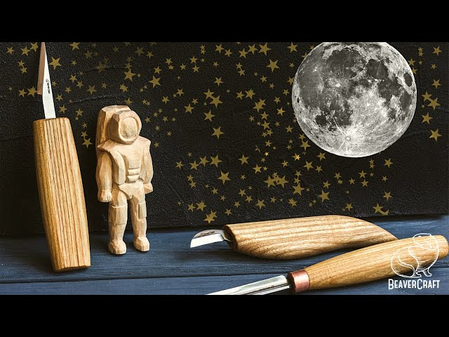 Easy Wood Carving Projects - Astronaut out of Wood