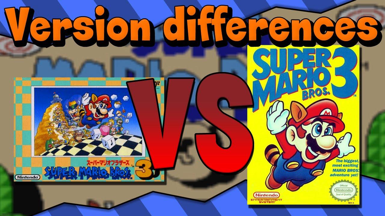 Version Differences Super Mario Bros 3 Youtube