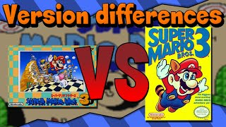 Version Differences - Super Mario Bros. 3