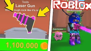 I BUY the LASER GUNONION on Roblox (Mining Simulator ITA)