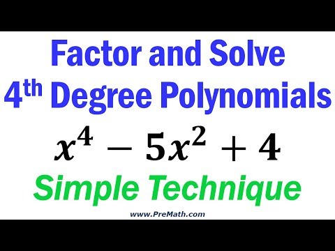 How To Factor And Solve Fourth Degree Polynomials - Simple Technique