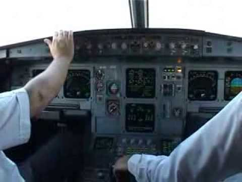 Cockpit flight Thessaloniki- Paris with Cyprus Airways Airbus 319 pt1 (eng sub) take off