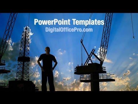 Building Construction Powerpoint Template Backgrounds Digitalofficepro 00428w