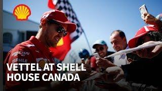Sebastian Vettel Unveils MORT Mural at Shell House Canada