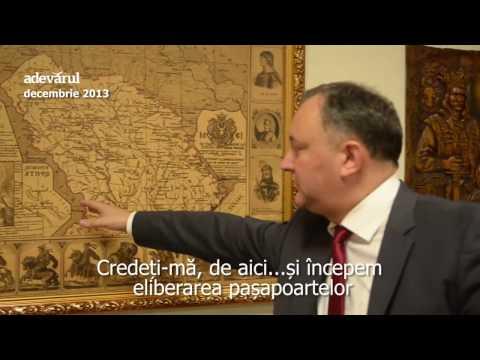 Igor Dodon explică strategia prin care doreşte să mute graniţa dintre România şi Republica Moldova
