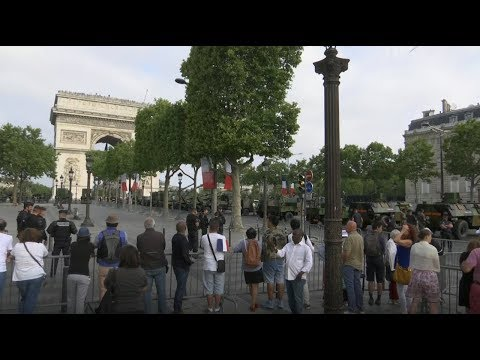 Yellow Vests protest in Paris on Bastille Day