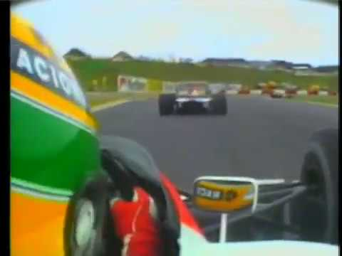 1992 Ayrton Senna McLaren Honda Mp4/6 onboard f1 South Africa Grand Prix GP start engine