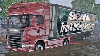 SCANIA Truck Driving Simulator - Passando por Enchente