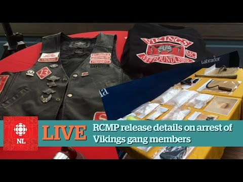 RCMP seized weapons, drugs and patched in Vikings