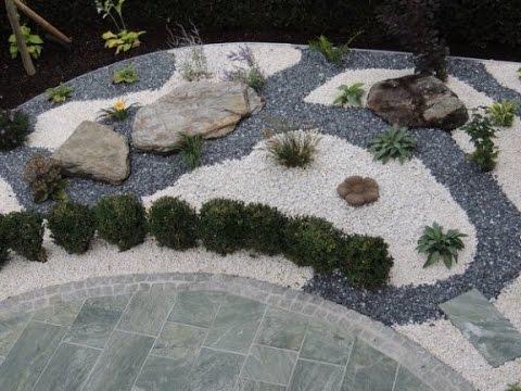 Мраморная крошка белая, серая, цветная в ландшафтном дизайне