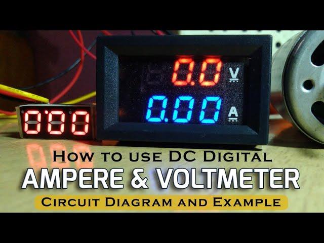 Digital Ampere And Voltmeter Wiring, Digital Ammeter Wiring Diagram