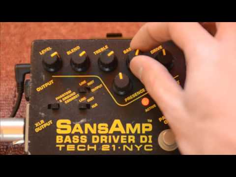 TECH21 - Sansamp BassDriver DI test