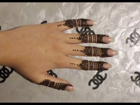 Finger Henna Design Youtube