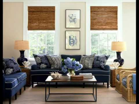 Navy Blue Couch Decorating Ideas - YouTube