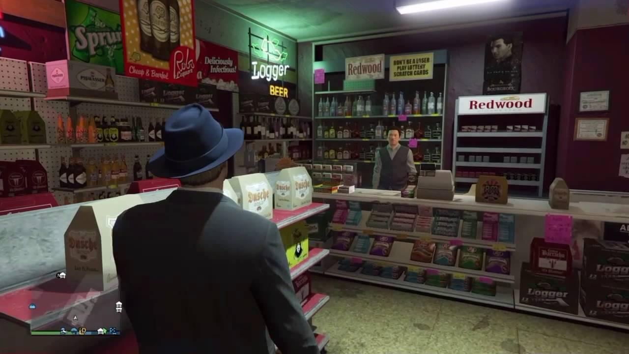 GTA V online : Robing stores money Safe in back room - YouTube