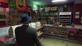 GTA V online :  Robing stores   money Safe in back room