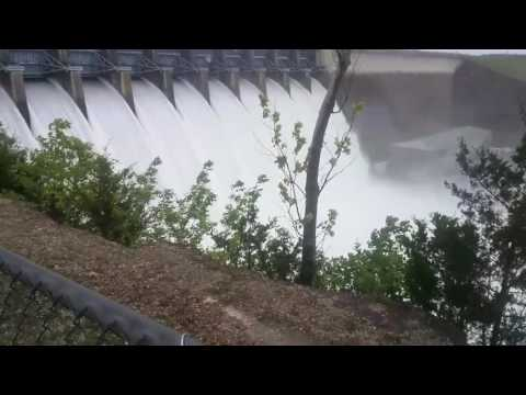 Table Rock Dam Branson Missouri 2017 flood all gates open