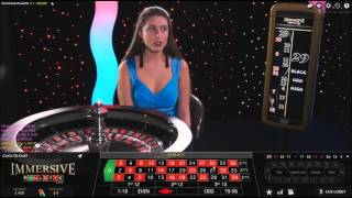 Immersive Roulette Live Dealer Casino Session £120 Start