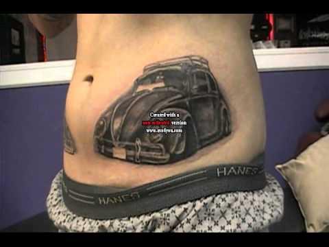 VW Bug Tattoo john minka.wmv