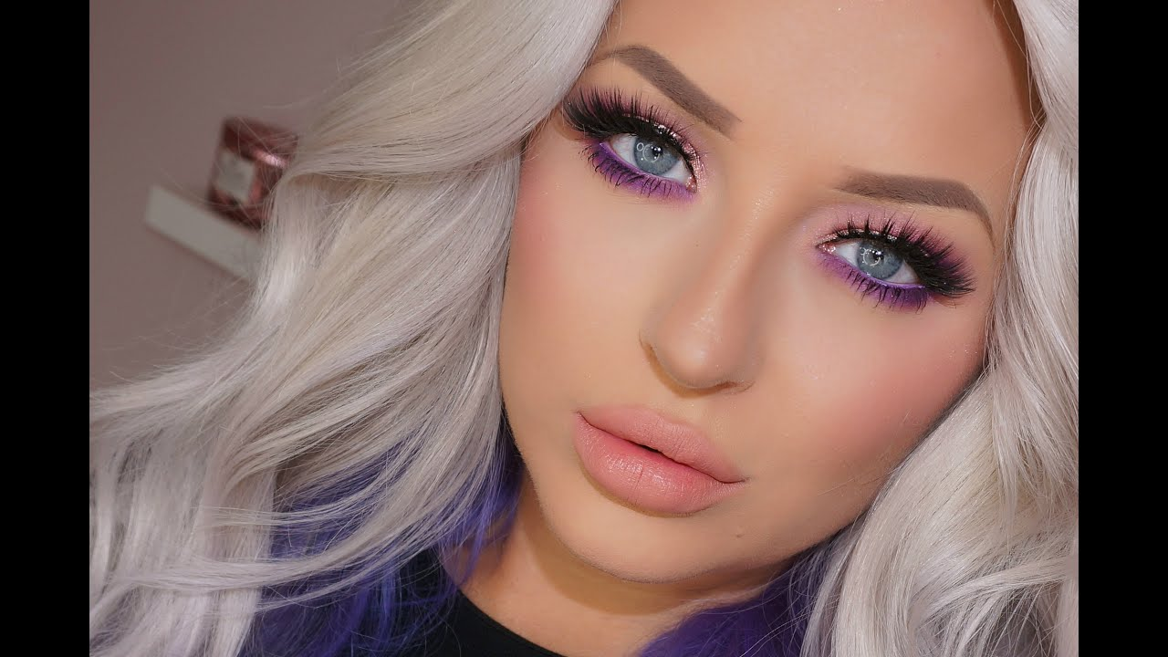 Glam Purple Eyeshadow Makeup Tutorial - YouTube