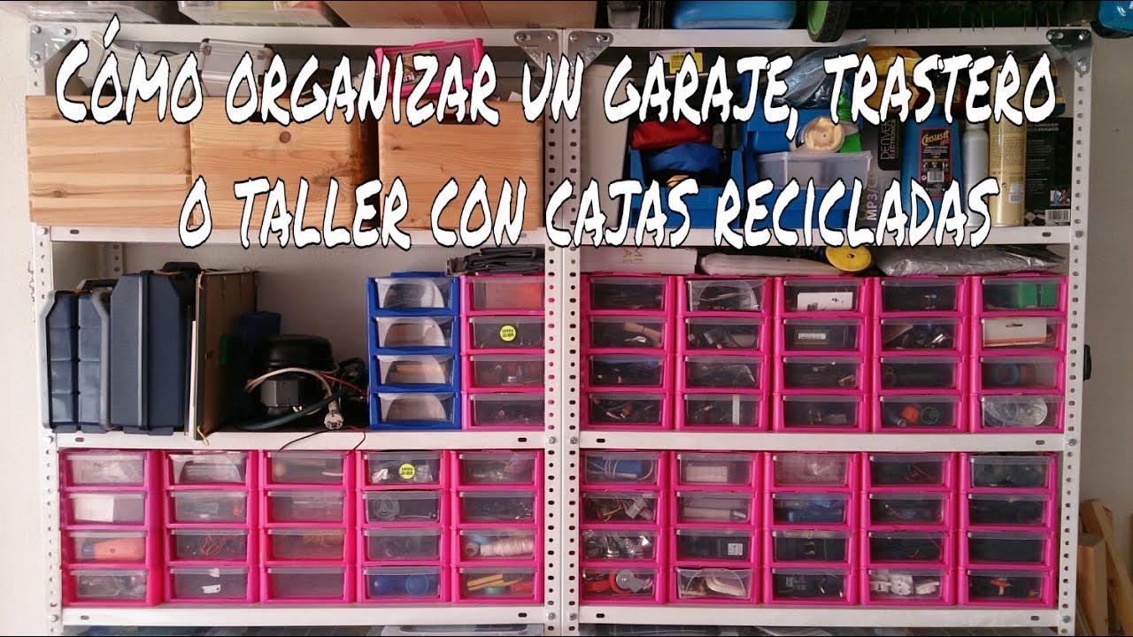 C mo organizar un garaje taller o trastero con cajas - Ordenar trastero ...