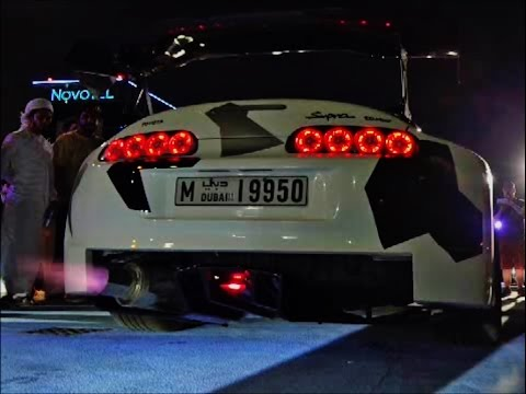 Modified Toyota Supra Crazy Sounds