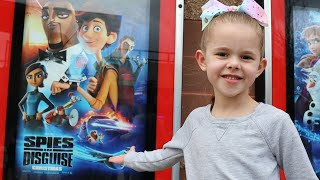 GOING TO SEE HERSELF IN A MOVIE!! (CLAIRE IS IN SPIES IN DISGUISE)