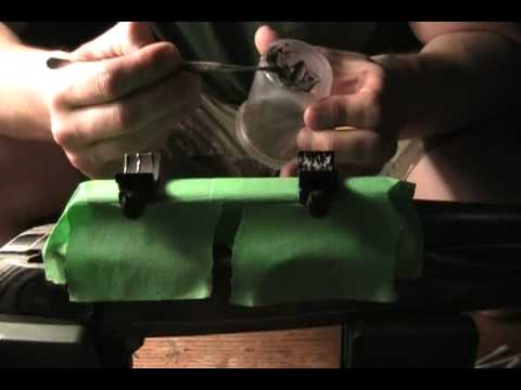 Bedding the scope rings on a Weatherby Vanguard Pt 2