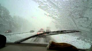 Blizzard in North Carolina on I95