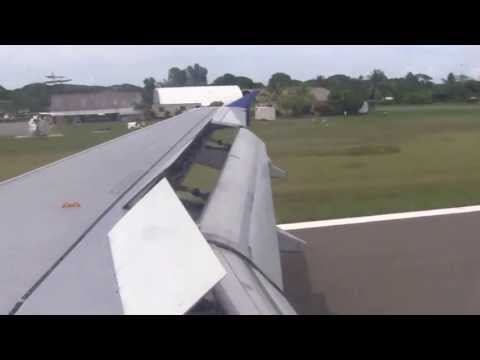 Solomon Airlines A320 Landing in Honiara, Solomon Islands