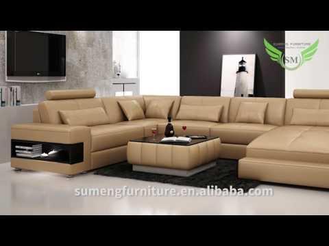 Sumeng Modern leather U shape Sofa