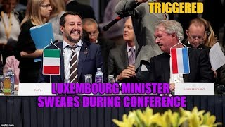 Luxembourg minister gets triggered by Matteo Salvini and loses control during an official meeting