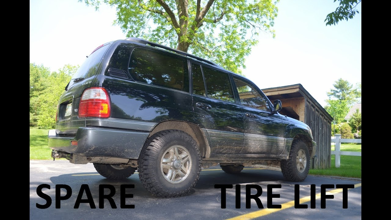 How-To Spare Tire Modification Lexus LX470 / Toyota Land Cruiser UJZ-100