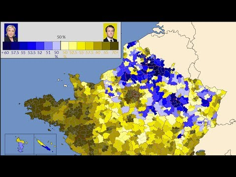 [4K HD] French Presidential Election : Maps Of The Second Round