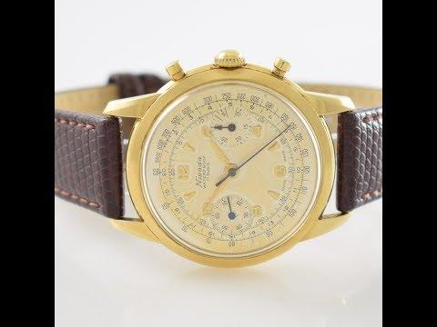 Nivada Vintage Chronograph In 18k Gold