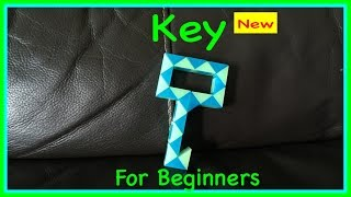 Smiggle Snake Puzzle Or Rubik's Twist Tutorial For Beginners: How To Make A Key Shape Step By Step