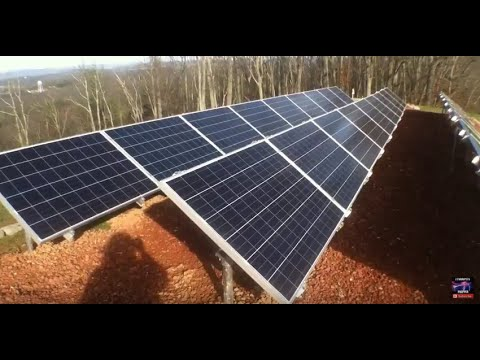 Off Grid mountain top 7.2 KW solar install from start to finish built by Off Grid Contracting