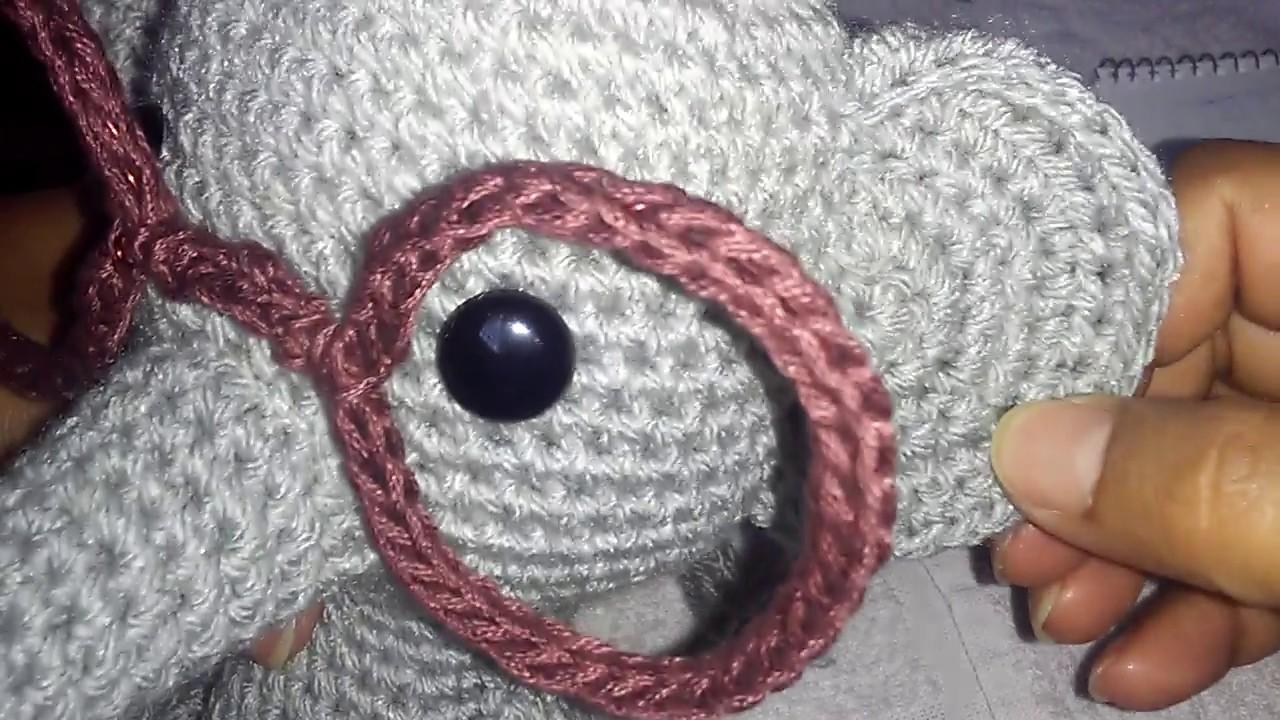 Elefante amigurumi souvenir para hacer con iman o llavero - YouTube | 720x1280