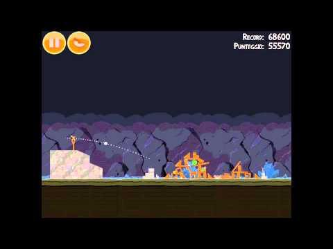 Angry Birds Mine And Dine 16-8 Hard Level 3 Star 81020 Walkthrough Video Tutorial Ipad2 Iphone 4