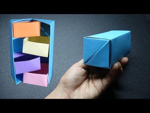 How To Make Secret Stepper Box - DIY Origami Paper Crafts - Easy Origami