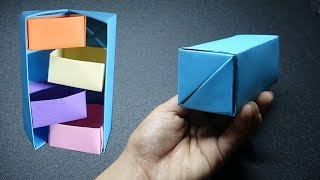 How To Make Secret Stepper Box - DIY Origami Paper Crafts - Easy Origami thumbnail